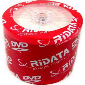 Dvd-r ridata 120min./4,7gb 16x (printable) - 50 бр. в целофан