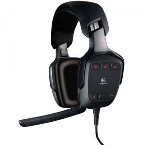 Стерео слушалки с микрофон logitech g35 gaming headset 7.1 - 981-000117