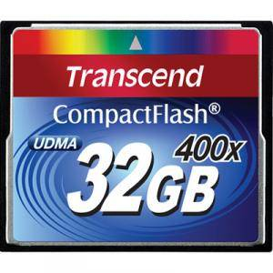 Transcend 32gb cf card (400x) - ts32gcf400