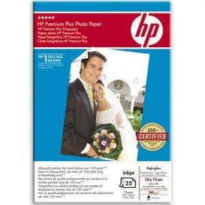 Хартия hp premium plus photo paper, glossy, 10x15 (25 sheets) - q8027a
