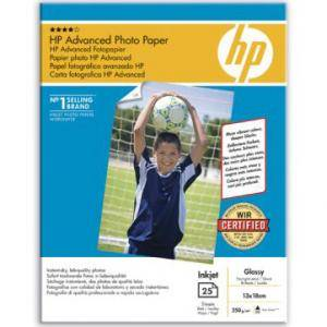 Хартия hp advanced glossy photo paper 250 g/m, 13 x 18 cm borderless/25 sht - q8696a
