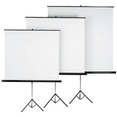 Екран на стойка 155x155 cm, 'tripod projection screen 155'duo white/silver с две лица - hama-18795
