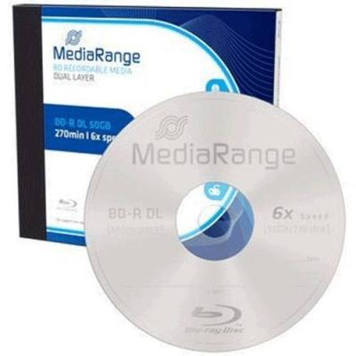Blu-ray mediarange bd-r double layer 50gb 6x - box