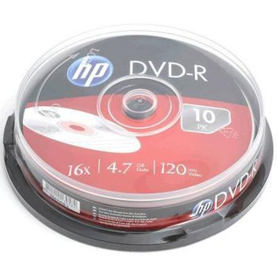 Dvd-r hp (hewlett pacard) 120min./4.7gb. 16x  - 10 бр. в шпиндел