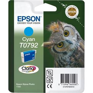 Epson stylus photo 1400 - ( t0792 ) cyan ink cartridge - c13t07924010