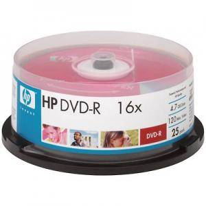 Dvd-r hp (hewlett pacard) 120min./4.7gb. 16x  - 25 бр. в шпиндел