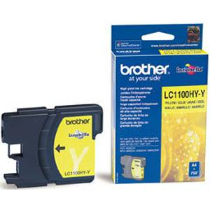 Brother ( lc1100hyy ) yellow ink cartridge, dcp385c/ dcp585cw / dcp6690cw / mfc6490cw