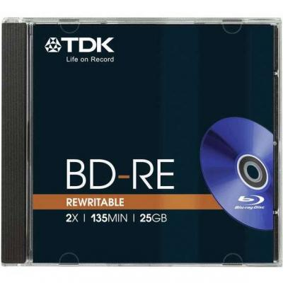 Blu-ray tdk bd-re single layer 25gb 2x - box