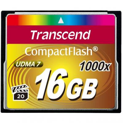 Transcend 16gb cf card (1000x, type i) - ts16gcf1000