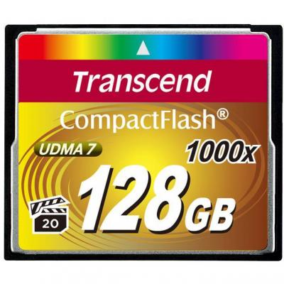 Transcend 128gb cf card (1000x, type i) - ts128gcf1000