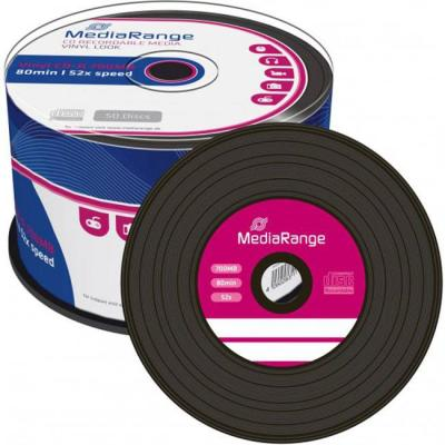 Cd-r mediarange vinyl audio 80min./700mb 52x - 50 броя в шпиндел