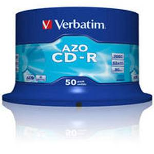 Cd-r verbatim crystal / super azo 80min./700mb 52x - 50 бр. в шпиндел