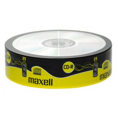 Cd-r maxell 80min./700mb. 52x - 25 бр. в шпиндел
