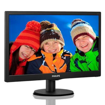 Монитор 18.5 slim led 1366x768 hd 16:9 5ms 10 000 000:1 vga, vesa, piano black 193v5lsb2
