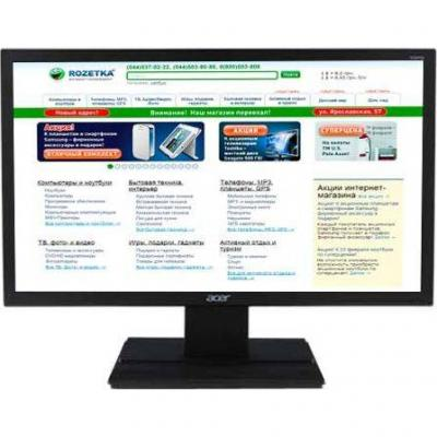 Монитор acer v196hqlab (led) 47cm 18.5 инча wide, 1366x768@60hz, 16:9, 5ms 100m:1 acm 200nits led euro/uk emea mprii black acer ecodisplay