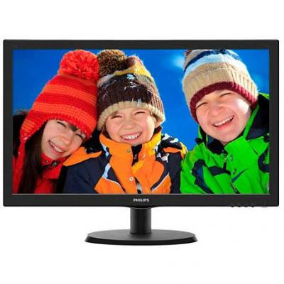 Led монитор - philips 21.5' slim led 1920x1080 fullhd 16:9 5ms 250cd/m2 10 000 000:1 dvi, vesa, tco, piano black - 223v5lsb