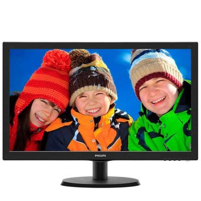 Монитор led  - philips 21.5 slim led 1920x1080 fullhd 16:9 5ms 200cd/m2 10 000 000:1, vesa, tco, piano black - 223v5lsb2/10