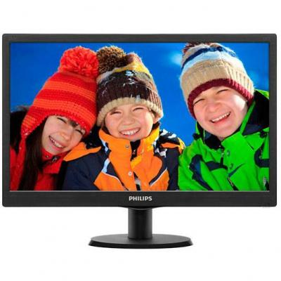 Led монитор - philips 20' slim led 1600x900 hd 16:9 5ms 10 000 000:1 vga, vesa, piano black - 203v5lsb26/10
