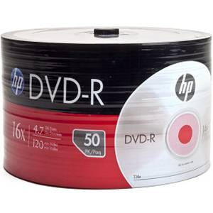 Dvd-r hp (hewlett pacard) 120min./4.7gb. 16x  - 50 бр. в целофан