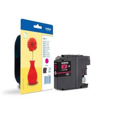Консуматив - brother lc-121 magenta ink cartridge for mfc-j470dw/dcp-j552dw - lc121m