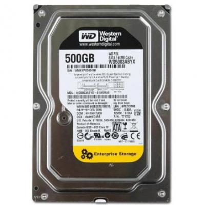 Твърд диск hdd 500gb sataiii wd re 7200rpm 64mb for server - wd5003abyz