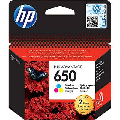 Hp 650 tri-color ink cartridge - cz102ae