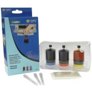 Мастило (eco refill kit) canon pixma ip 1800/1900/2600/ mp 190/198/210/220/1180/1880/mx 300/- cl-41/cl-38/cl-51 color - p№ nr-0cl41 - g&g - 220can