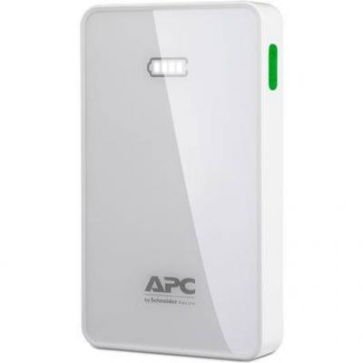 Портативна батерия apc mobile power pack, 5000mah li-polymer, white - m5wh-ec