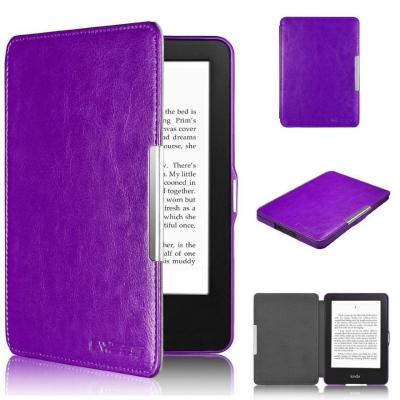 Калъф за amazon kindle touch (7th generation) - ultra thin pu leather case cover, лилав - c025-4-03 40062