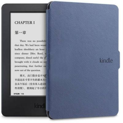 Калъф за amazon kindle touch (7th и 8th generation) - ultra thin pu leather case cover, син - c025-4-06 40063