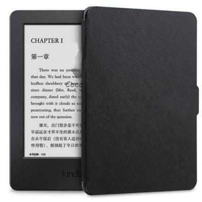 Калъф за amazon kindle touch (7th и 8th generation) - ultra thin pu leather case cover, черен - c025-4-05 40060