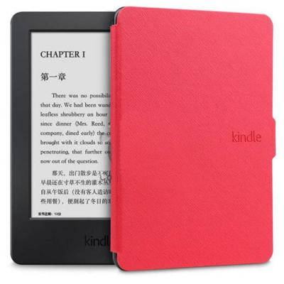 Калъф за amazon kindle touch (7th и 8th generation) - ultra thin pu leather case cover, червен - c025-4-07 40064