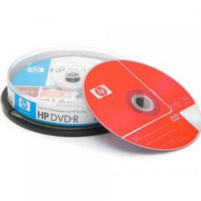 Dvd+r hp (hewlett pacard) 120min./4.7gb. 16x  - 10 бр. в шпиндел