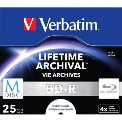 Verbatim m-disc blu-ray full printable bd-r 25gb 4x