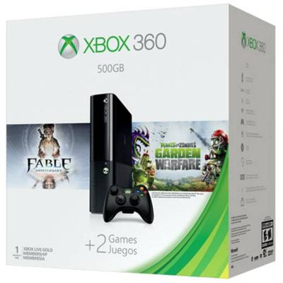 Конзола microsoft xbox 360 500gb + plants vs zombies + fable anniversary