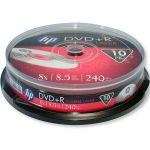 Dvd+r hp (hewlett pacard) dual layer 240мин./8.5gb 8x - 10 бр. в шпиндел
