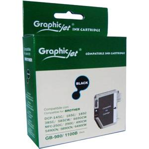 Brother ( lc980bk lc1100hybk ) black ink catrige, dcp385c/ dcp585cw / dcp6690cw / mfc6490cw - graphic jet