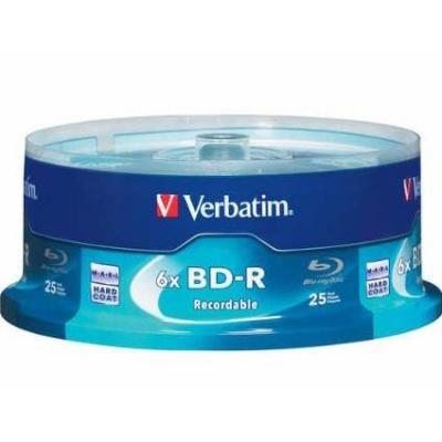 Blu-ray verbatim bd-r single layer 25gb 6x  - 25 бр. в шпиндел