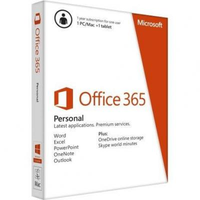 Офис пакет office 365 personal 32-bit/x64 german subscr / немски език 1yr eurozone mediale - qq2-00047