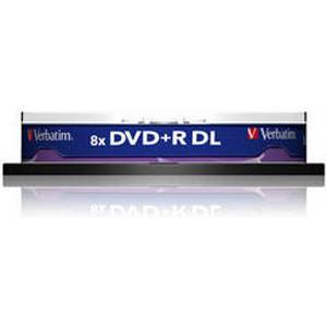 Dvd+r verbatim dual layer 240мин./8.5gb 8x - 10 бр. в шпиндел