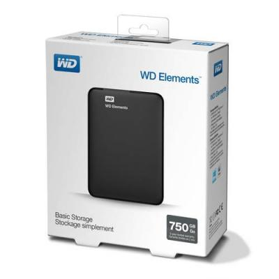 Твърд диск hdd 750gb usb 3.0 elements portable black/wdbuzg7500abk