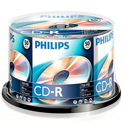 Cd-r philips 80min./700mb. 52x - 50 бр. в шпиндел