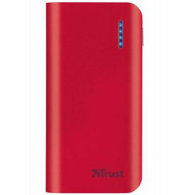 Зарядно устройство trust primo power bank 4400 portable charger - red