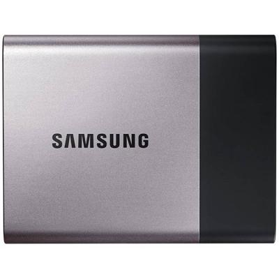 Външен диск samsung portable ssd t3 series, 250 gb 3d v-nand flash, slim, usb 3.0, metal silver, mu-pt250b/eu