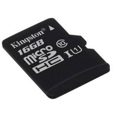 Карта памет kingston microsdhc 16gb, class 10 uhs-i с адаптер sd, kin-sdc10g2/16gb