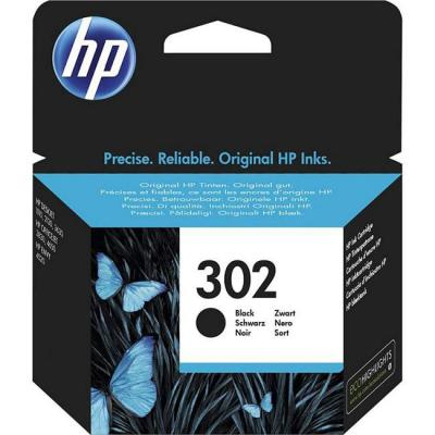 Мастилена касета hp 302 black original ink cartridge, f6u66ae
