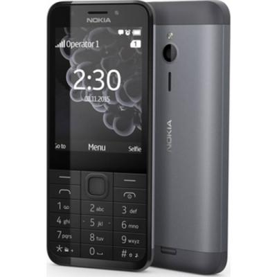 Двусимов мобилен телефон, nokia 230 ds dark silver