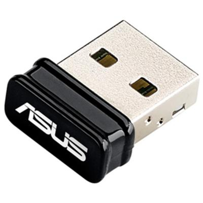 Адаптер asus usb-n10 nano, wireless usb 2.0 card 802.11n, 150 mbps, nano dongle, 90ig00j0-bu0n00