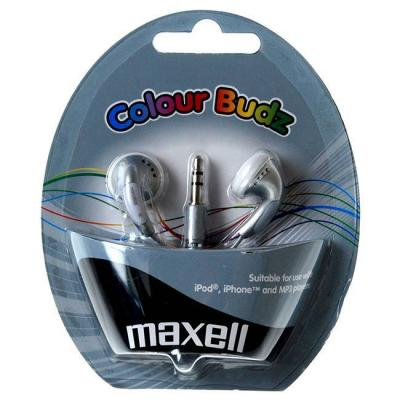 Слушалки maxell color buds сребристи, ml-ah-cbuds-silver