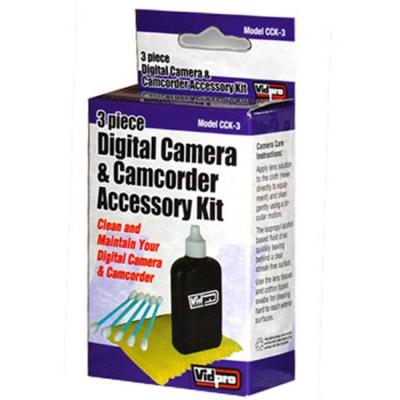 Почистващ кит за фотоапарат vidpro 3 piece digital camera & camcorder accessory kit_cck-3